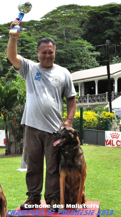 Champion de Polynésie 2013 de chien de défense